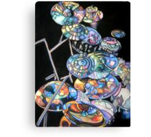 Melvins Double Drum Kit Canvas Print