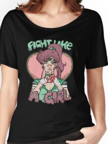 Sailor Moon- Fight Like a Girl (Sailor Jupiter) Women's Relaxed Fit T-Shirt