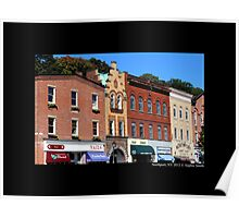 Main Street Buildings - Northport, New York  Poster