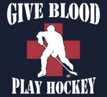 Give Blood Play Hockey Kids Tee