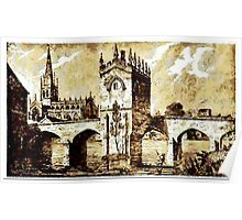 The Chapel of Our Lady, Rotherham Bridge, Yorkshire early 19th century Poster
