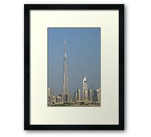 Burj Khalifa from Maydan Framed Print