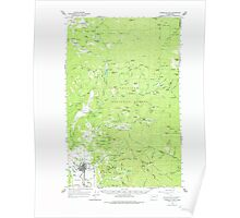 USGS Topo Map Washington State WA Chewelah Mtn 240462 1964 62500 Poster
