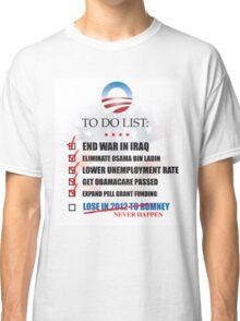 Obama Accomplishments Tee Classic T-Shirt