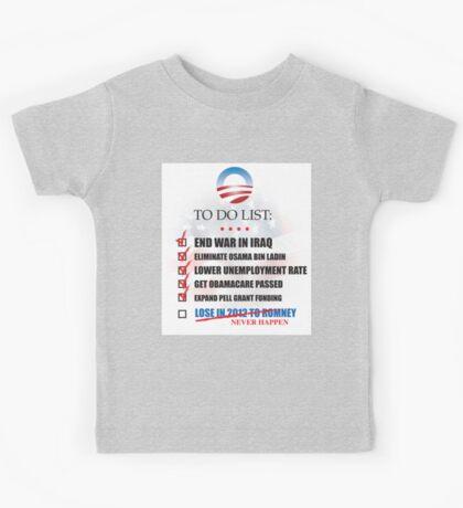 Obama Accomplishments Tee Kids Tee