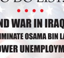 Obama Accomplishments Tee Sticker