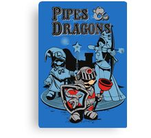 PIPES & DRAGONS Canvas Print