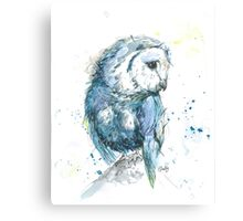 Beautiful Owl in Watercolour & Ink Canvas Print