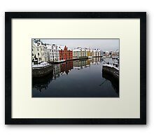 Alesund Harbour, Norway Framed Print