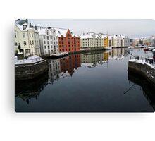 Alesund Harbour, Norway Canvas Print