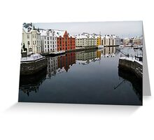 Alesund Harbour, Norway Greeting Card