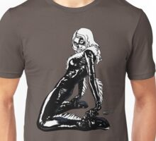 Black Cat in Shadow Unisex T-Shirt