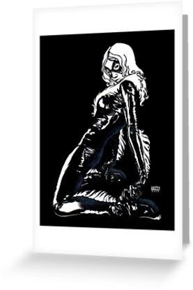 Black Cat in Shadow by Laura Guzzo