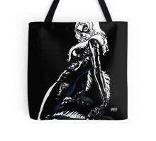 Black Cat in Shadow Tote Bag