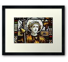 St George In Glass Framed Print