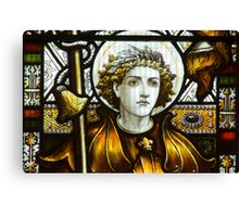 St George In Glass Canvas Print