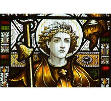 St George In Glass Photographic Print