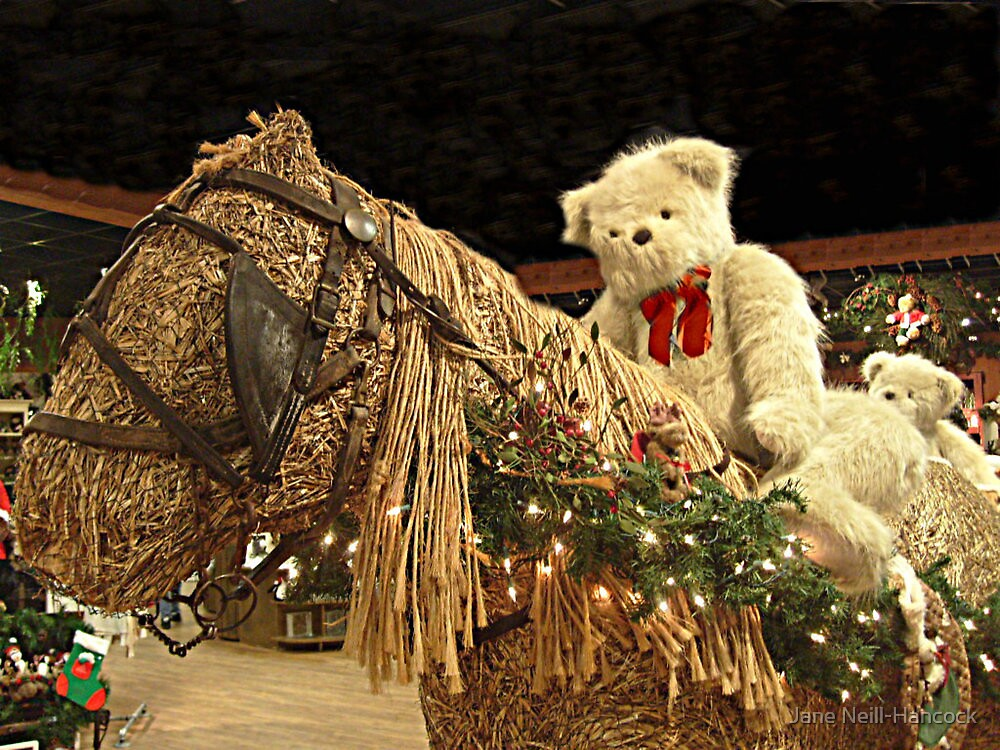 Time For A Christmas Teddy Ride by Jane Neill-Hancock