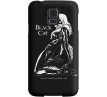 Black Cat in Shadow Samsung Galaxy Case/Skin