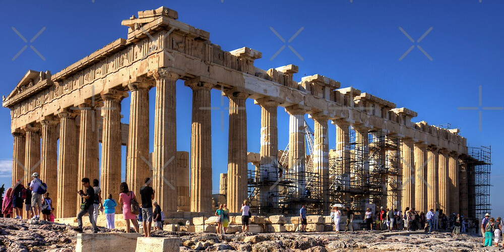 Never ending repairs to the Parthenon by Tom Gomez