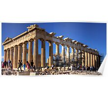 Never ending repairs to the Parthenon Poster