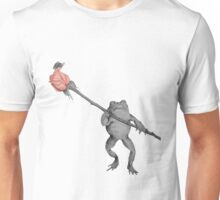 Frog whit fly in rose Unisex T-Shirt