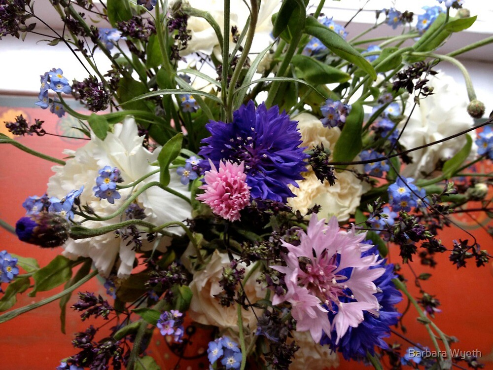Cornflower Arrangement by Barbara Wyeth
