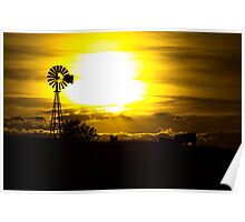 Midwest sunset Poster
