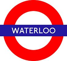 Waterloo Underground Station Logo by vintage-shirts