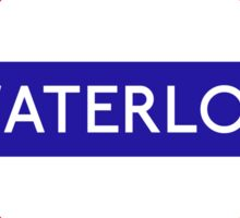 Waterloo Underground Station Logo Sticker