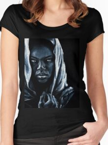 African Women's Fitted Scoop T-Shirt