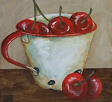 Cup with cherries by Sonja Peacock
