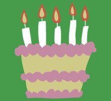 Pink White Birthday Cake One Piece - Short Sleeve