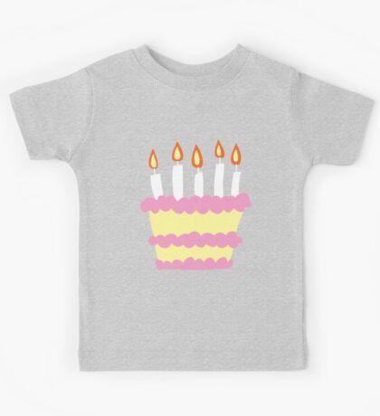 Pink White Birthday Cake Kids Tee