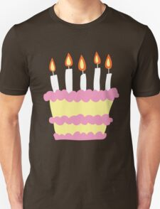 Pink White Birthday Cake Unisex T-Shirt