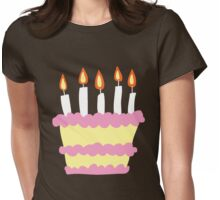 Pink White Birthday Cake Womens Fitted T-Shirt