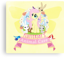 Fluttershy's Animal Care Canvas Print