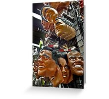 The American Presidential Contenders Greeting Card