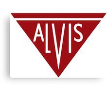 Alvis automobiles classic car logo remake Canvas Print