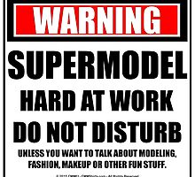 Warning Supermodel Hard At Work Do Not Disturb by cmmei