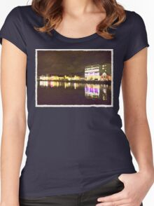 Moonlit night on Merchant´s Quay 001 Women's Fitted Scoop T-Shirt