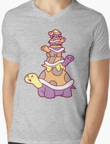 Cute Turtle Stack Mens V-Neck T-Shirt