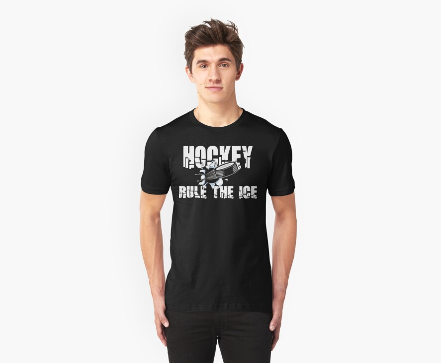 Hockey Rule The Ice by SportsT-Shirts