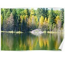 Autumn Colors on Piperell Lake, Poster