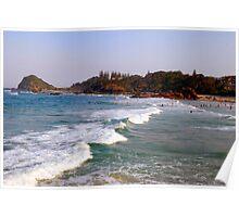 Flynn's Beach Surfing Poster