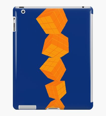 Orange cubes iPad Case/Skin