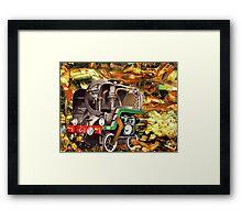 Stationary Train. Framed Print