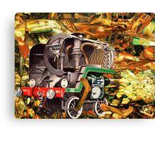 Stationary Train. Canvas Print