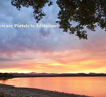 Sunsets are Portals  by wisdomwords