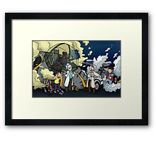 Back to the Future - Rick and Morty Framed Print